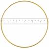 "Metal Rings 6""/15.2cm Brass"